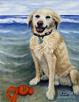 Bailey at the Beach by Gail Darnell