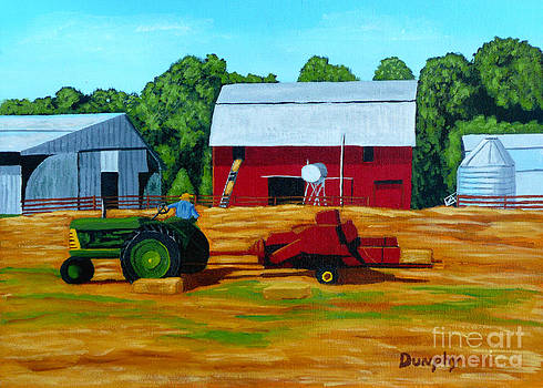 Bailing Hay by Anthony Dunphy