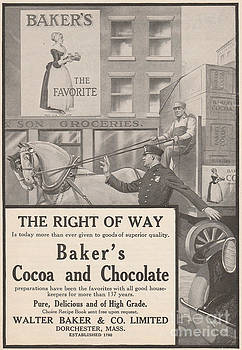 Bakers Chocolate Ad by Paula Talbert