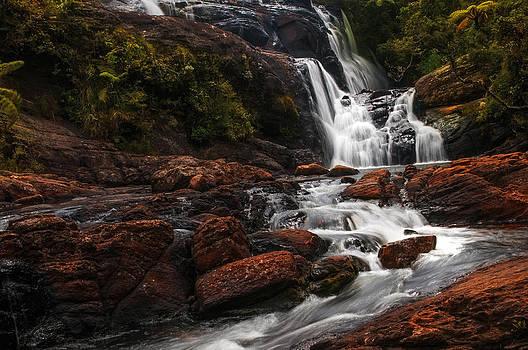 Jenny Rainbow - Bakers Fall I. Horton Plains National Park. Sri Lanka