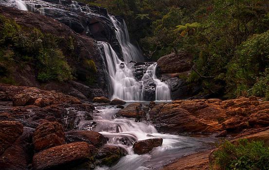 Jenny Rainbow - Bakers Fall II. Horton Plains National Park. Sri Lanka