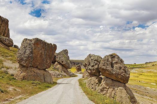 Kantilal Patel - Balanced Volcanic Boulders Dirt Track