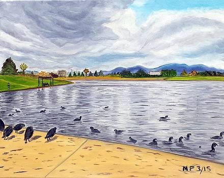 Balboa Lake on a Stormy Day by Madeleine Prochazka