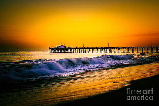 Balboa Pier Picture at Sunset in Orange County California by Paul Velgos