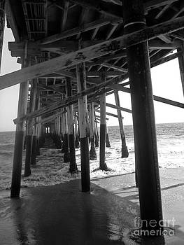 Carolyn Stagger Cokley - balboa pier2 bw