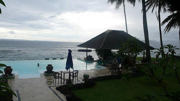 Bali pool by the ocean by Jack Edson Adams
