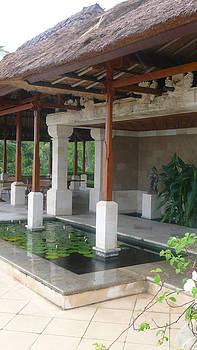 Bali pool under roof by Jack Adams