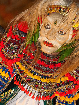 Balinese Masked Dancer by Beverly Hanson