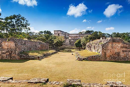 Jo Ann Snover - Ball Court Uxmal Mexico