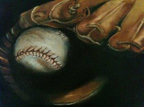 Ball in Glove by Lindsay Frost