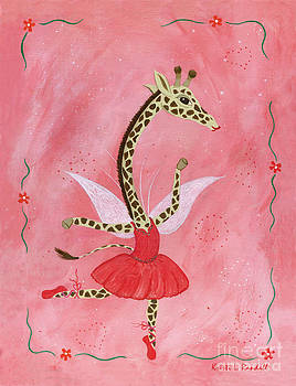 Ballerina Giraffe Girls Room Art by Kristi L Randall Brooklyn Alien Art