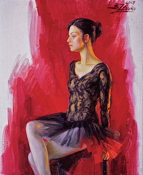 Ballerina in black by Serguei Zlenko
