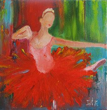 Ballerina In Red by Irit Bourla