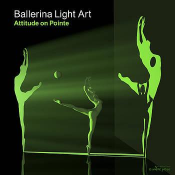 Andre Price - Ballerina Light Art - Green