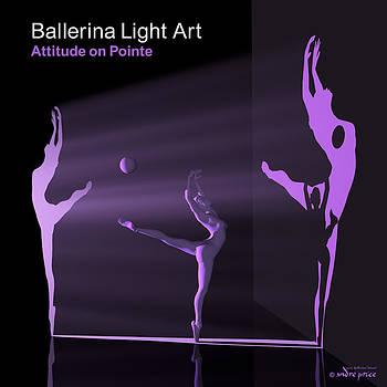 Andre Price - Ballerina Light Art - Purple