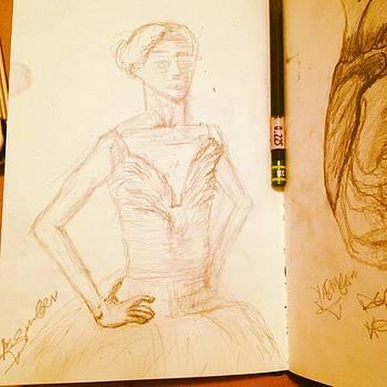 Ballerina Sktech by Jasmin Jumah