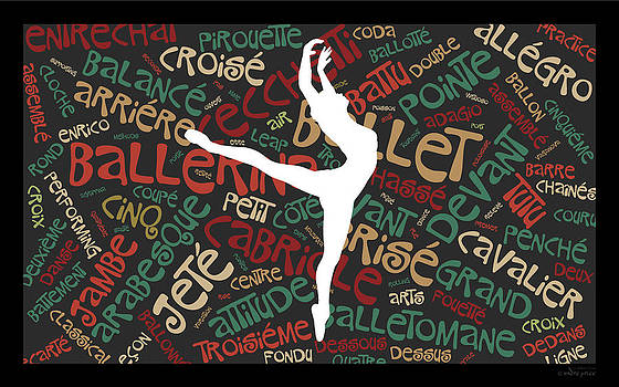 Ballerina Word Art - Attitude on Pointe by Alfred Price