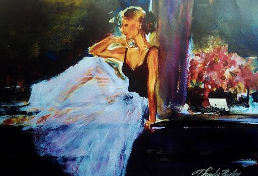 Ballet Dancer in Window by Therese Fowler-Bailey