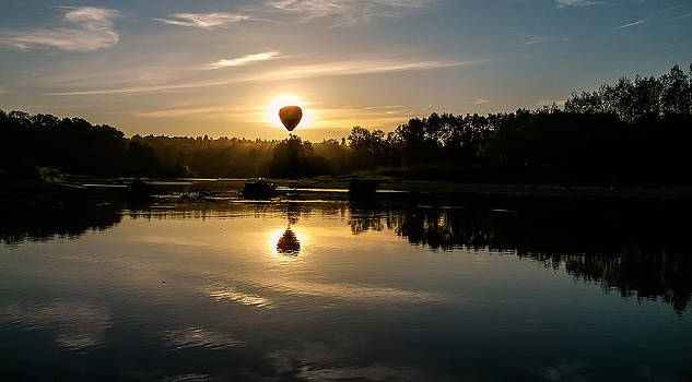 Balloon Over Snohomish River by Randal Ketchem