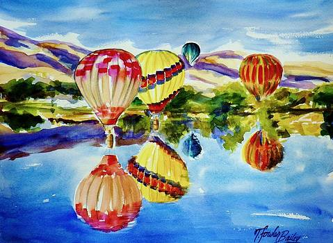 Balloons and Foothills  DONATED TO Juvenile Diabetes FundRaiser by Therese Fowler-Bailey