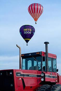 Devinder Sangha - Balloons flying over Tractor