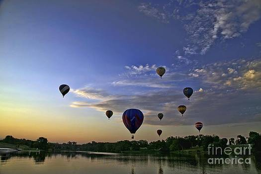 Balloons over the Lake by Joenne Hartley