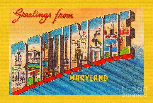 Jost Houk - Baltimore Post Card