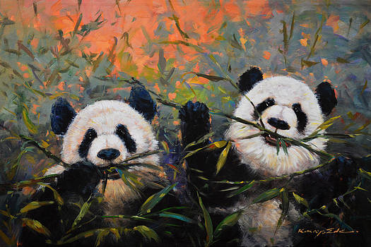 Bamboo friends by Kanayo Ede