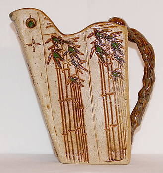 Bamboo Pitcher by Susan Perry