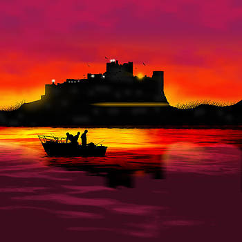 Bamburgh Castle At Night by Tanya Hall