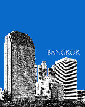 DB Artist - Bangkok Thailand Skyline 2 - Blue