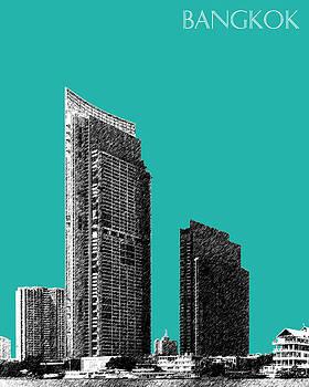 DB Artist - Bangkok Thailand Skyline 3 - Teal