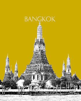 DB Artist - Bangkok Thailand Skyline Wat Arun - Gold