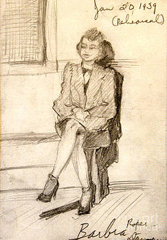 Art By Tolpo Collection - Barbara Waiting for Rehearsal  1939