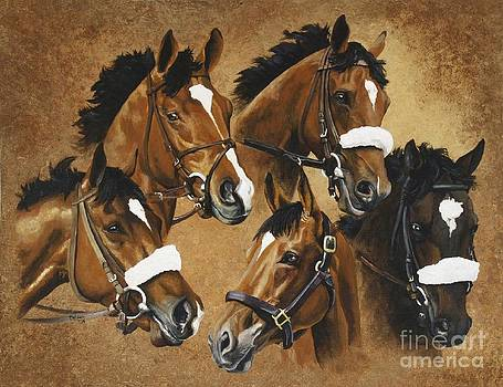 Barbaro and his brothers by Pat DeLong
