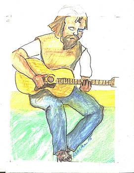Bard Hall Guitarist by John Keasler