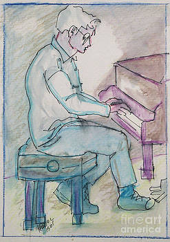 Bard Hall Pianist by John Keasler