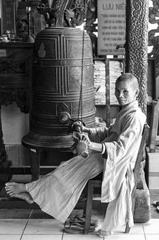 Barefoot Buddhist Monk by Tina Manley