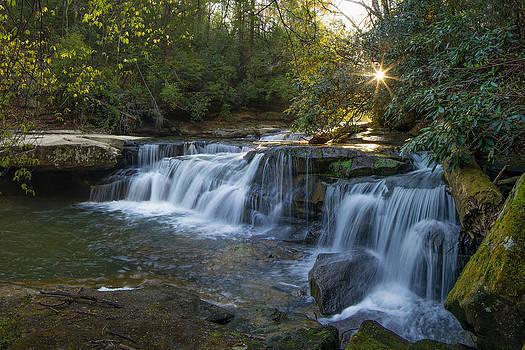 Bark Camp Creek cascades by Ulrich Burkhalter