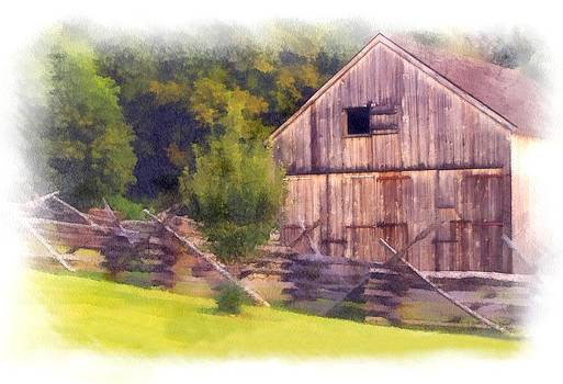 Barn and fence by Dave Hrusecky