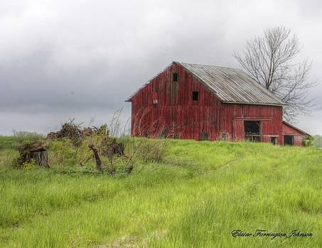 Barn and Hayfield by Elaine Farrington Johnson
