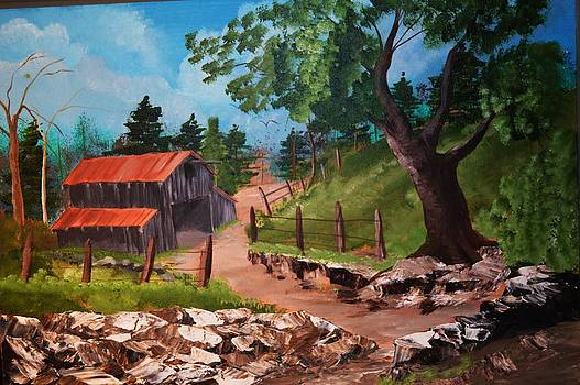Barn at the Washed Out Road by Barney Hedrick