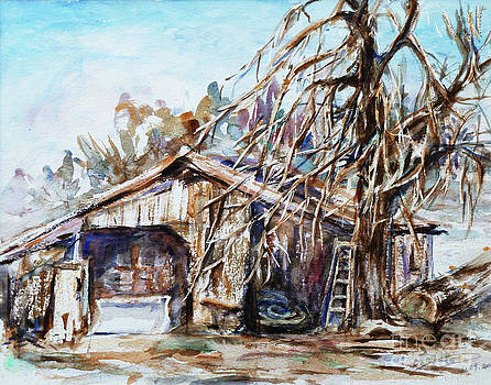 Barn by the Tree by Xueling Zou