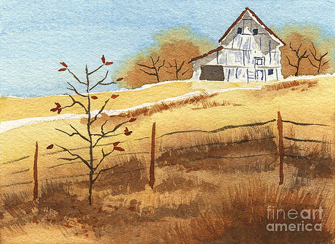 Beverly Claire Kaiya - Barn in Autumn