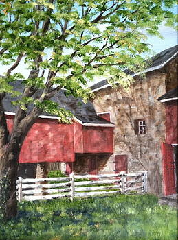 Barn in Shadows by Margie Perry