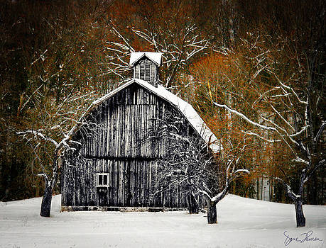 Barn in Winter by David Thurau