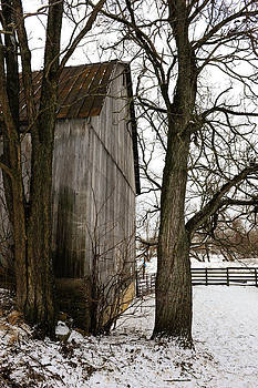 Barn in Winter by Don and Bonnie Fink