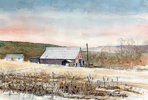 Barn Near Elbert Colorado by Richard Hahn