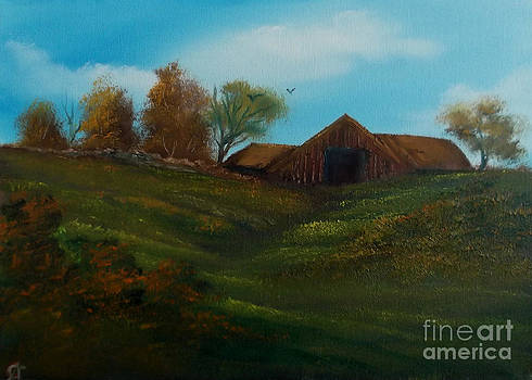 Barn on the Hill. by Cynthia Adams