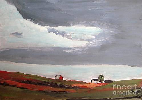 Barn on the Hill by Vesna Antic